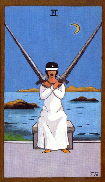 TAROT - RAZINE SVIJESTI - dvojka mačeva