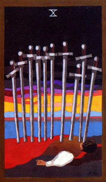 TAROT - RAZINE SVIJESTI - desetica mačeva