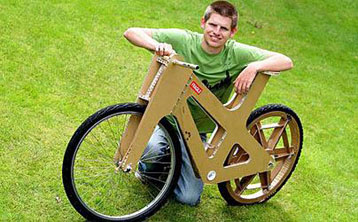 Za 150 kuna do bicikla od kartona