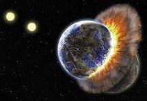 Sudar dvaju planeta u sazvježđu Ovna