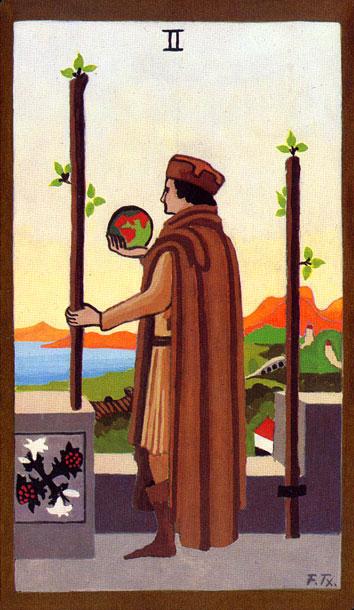 Tarot - II. DVOJKA ŠTAPOVA