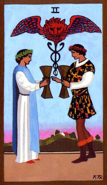 Tarot - II. DVOJKA PEHARA