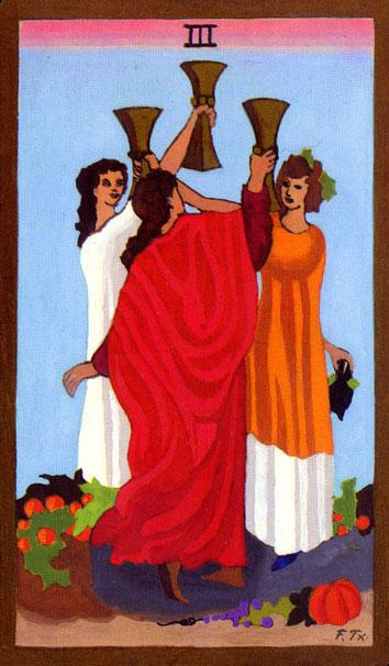 Tarot - III. TROJKA PEHARA