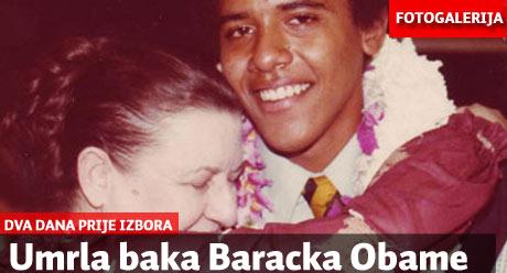 Obamina baka umrla samo dva dana prije izbora