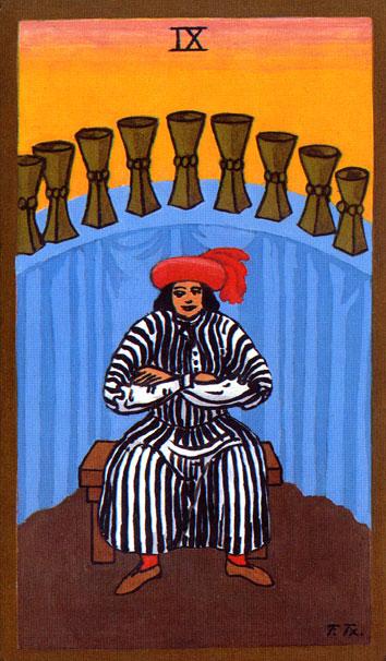Tarot - IX. DEVETKA PEHARA