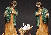 Gay jaslice s dva Josipa i dvije Marije