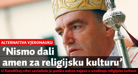 'Nismo dali amen za religijsku kulturu'