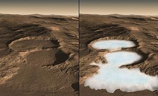 Otkriven led visoke čistoće ispod sjeverne polutke na Marsu