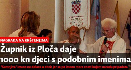 Don Petar Mikić daruje 1000 kuna djeci s podobnim imenima