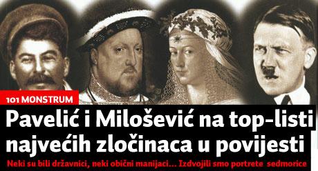 101 monstrum: Pavelić i Milošević na top-listi najvećih zločinaca u povijesti....