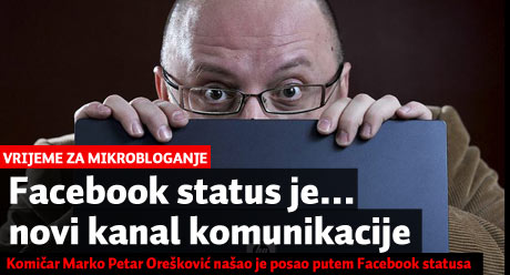 Facebook status je.... novi kanal komunikacije