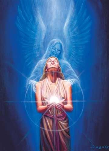 Visionary Art by Mario Duguay-Messenger of Light