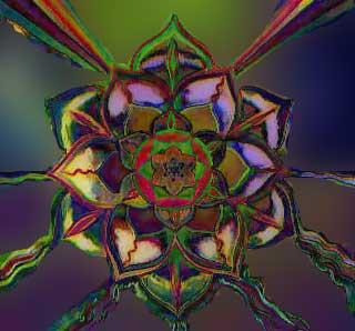 kaleidoskop, punina, kristal, boja, zvjezdica, pahuljica