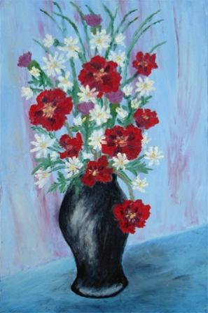 Poljsko cvijeće u crnoj vazi
