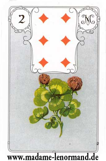 Lenormand karte - Djetelina/Karo 6