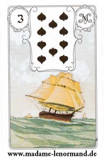 Lenormand karte - Brod / Pik 10