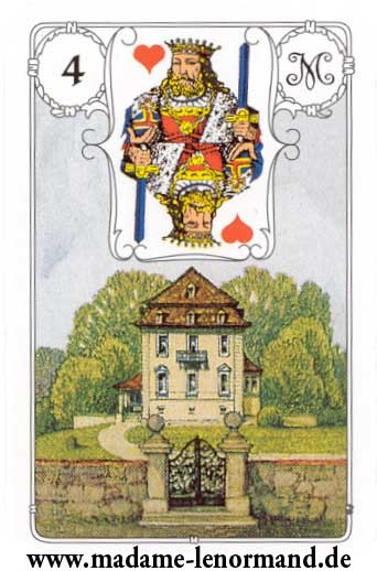 Lenormand karte - Kuća/Kralj srce