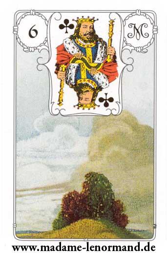 Lenormand karte - Oblaci / Kralj tref