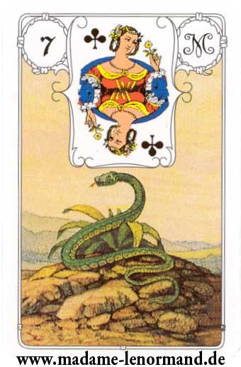 Lenormand karte - Zmija /Dama tref