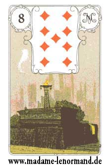Lenormand karte - Lijes/Karo 9