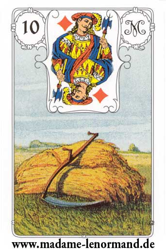 Lenormand karte - Kosa /Dečko karo