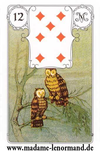 Lenormand karte - Ptice/Karo 7