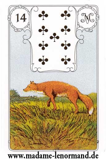 Lenormand karte - Lisica/Tref 9