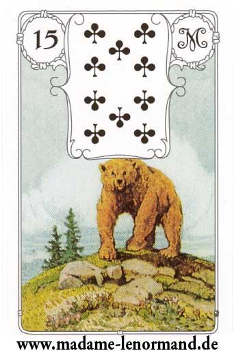 Lenormand karte - Medvjed/Tref 10