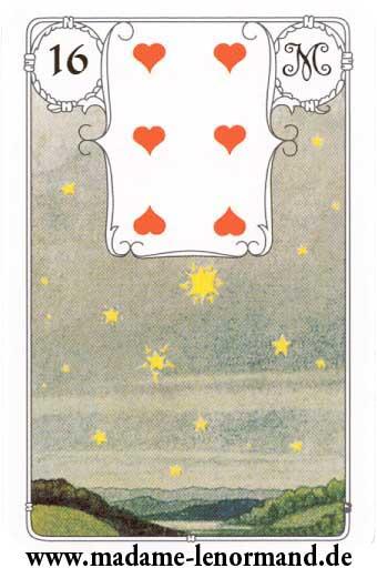 Lenormand karte - Zvijezda/Srce 6