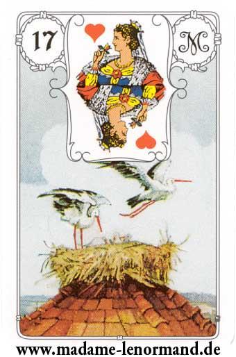 Lenormand karte - Roda /Dama srce