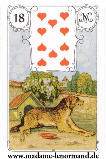 Lenormand karte - Pas /Srce 10