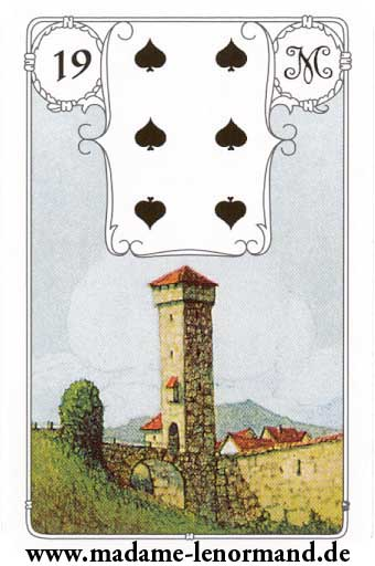 Lenormand karte - Kula /Pik 6