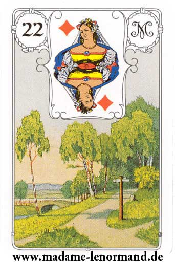 Lenormand karte - Put/Dama karo