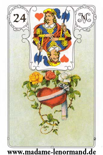 Lenormand karte - Srce/Dečko srce