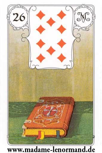 Lenormand karte - Knjiga /Karo 10