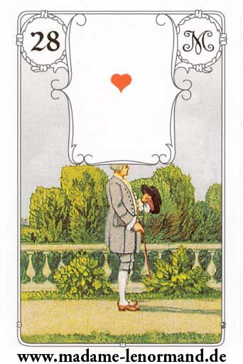 Lenormand karte - Gospodin / As srce