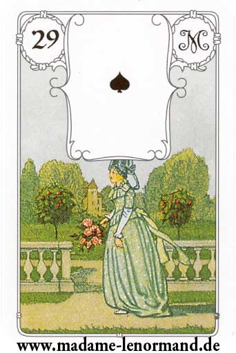 Lenormand karte - Dama /As pik