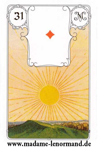 Lenormand karte - Sunce/As karo