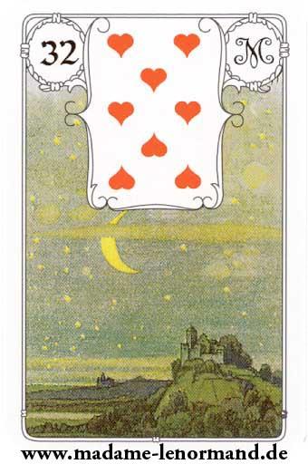 Lenormand karte - Mjesec /Srce 8