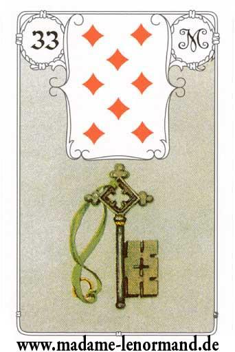 Značenja karata -   Ključ