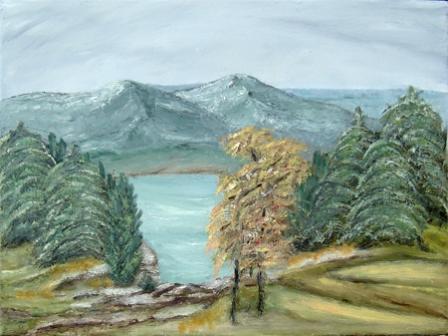 Planinsko jezero - Treća Ljubičina slika od 7 doniranih