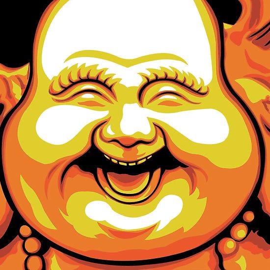 Nasmijani Buddha - simbolika
