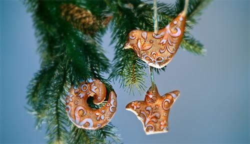 Božićni ukrasi - UKRASI OD GIPSA