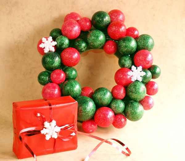 Božićni ukrasi - KUGLICA DO KUGLICE - VJENČIĆ