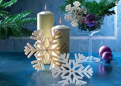 Božićni ukrasi - PAHULJICE OD FIMO MASE