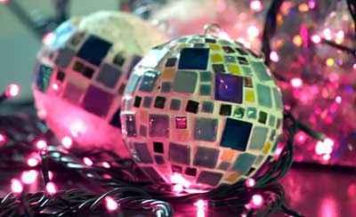 Božićni ukrasi - MINI MOZAIK NA KUGLICAMA