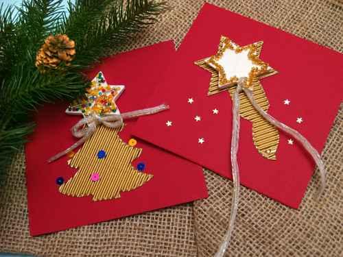 Božićni ukrasi - ČESTITKE S PERLICAMA