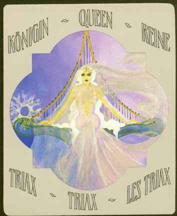 Deva Tarot - Dvorske karte Triaxa: Kraljica kristala i Triaxa