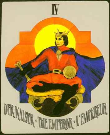 Deva Tarot - Božanski Tarot -IV  Car