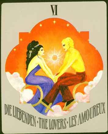 Deva Tarot - Božanski Tarot -  VI LJUBAVNICI